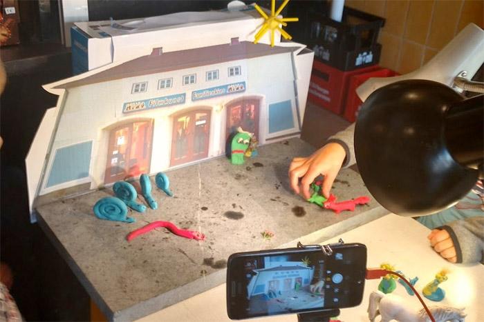 Trickfilm-Workshop mit Kindern